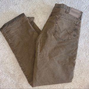 Wrangler fleece lined pants tan colored